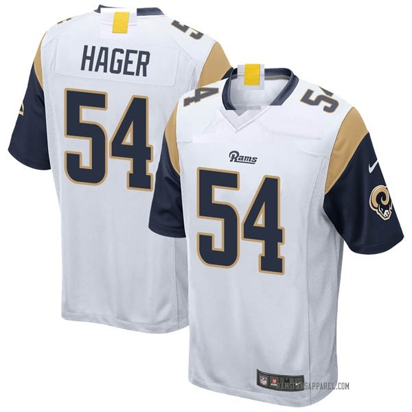 Bryce Hager Los Angeles Rams Game White Jersey