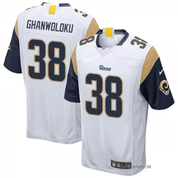 Youth Dayan Ghanwoloku Los Angeles Rams Game White Jersey