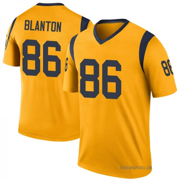Youth Kendall Blanton Los Angeles Rams Legend Gold Color Rush Jersey