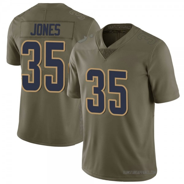 Youth Xavier Jones Los Angeles Rams Limited Green 2017 Salute to Service Jersey